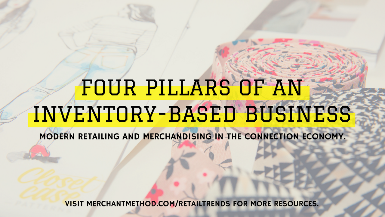 Merchant Method Four Pillars of an Inventory-Based Business | Visit merchantmethod.com/retailtrends | Retail, Small-Batch Manufacturing, Maker