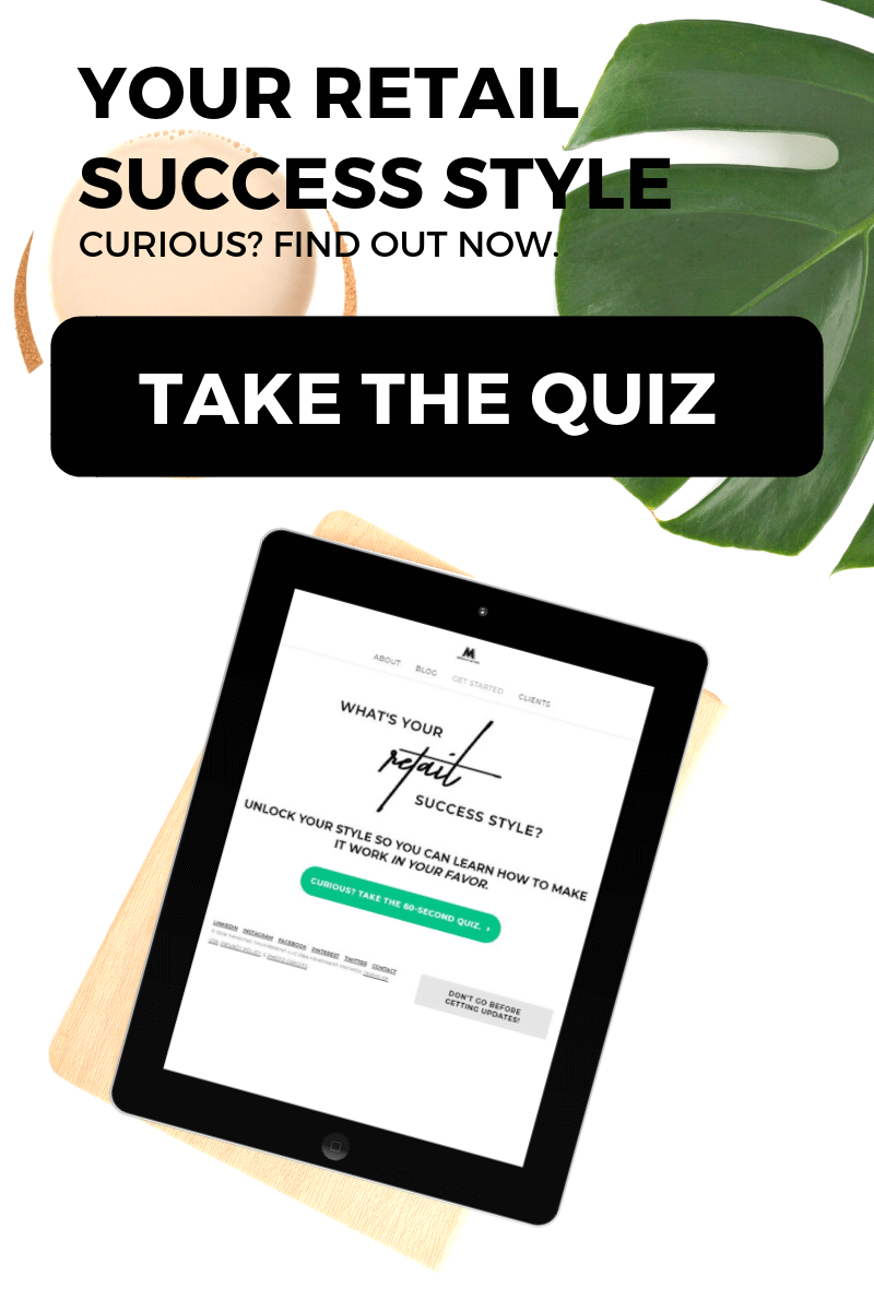 What's Your Retail Success Style? Quiz on an tablet device | Visit merchantmethod.com for more.
